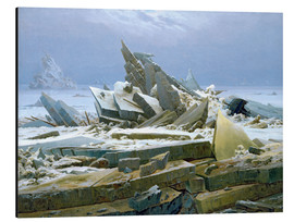Tableau en aluminium  La mer polaire - Caspar David Friedrich