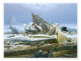Poster  The Polar Sea - Caspar David Friedrich