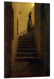 Tableau en aluminium  Caroline on the stairs - Caspar David Friedrich