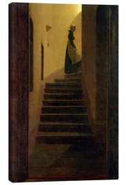 Toile  Caroline on the stairs - Caspar David Friedrich