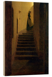 Tableau en bois  Caroline on the stairs - Caspar David Friedrich