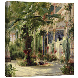 Toile  Interior of the Palm House at Potsdam - Carl Blechen