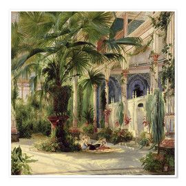 Poster  Interior of the Palm House at Potsdam - Carl Blechen