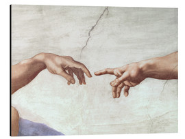 Alu-Dibond  The Creation of Adam (Detail) - Michelangelo