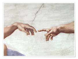 Michelangelo - The Creation of Adam (Detail)