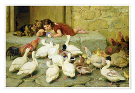 Poster  The Last Spoonful - Briton Riviere