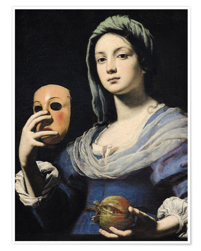 Poster Woman with a Mask