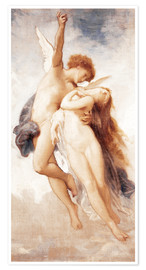Poster  Cupid and Psyche - William Adolphe Bouguereau