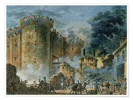Poster  The Taking of the Bastille - Jean-Pierre Houel