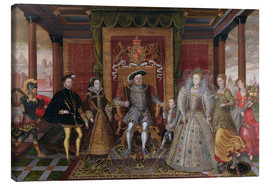 Tableau sur toile  An Allegory of the Tudor Succession: The Family of Henry VIII - Lucas de Heere