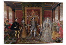 Tableau en PVC  An Allegory of the Tudor Succession: The Family of Henry VIII - Lucas de Heere