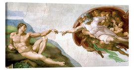 Toile  The Creation of Adam - Michelangelo