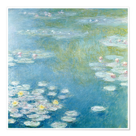 Poster  Nymphéas à Giverny - Claude Monet