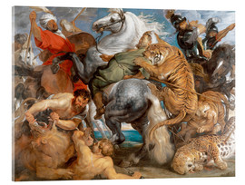 Verre acrylique  The Tiger Hunt - Peter Paul Rubens