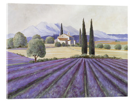 Verre acrylique  Lavender Fields - Franz Heigl