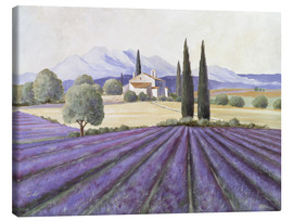 Toile  Lavender Fields - Franz Heigl