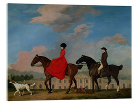 Tableau en verre acrylique  John and Sophia Musters riding at Colwick Hall - George Stubbs