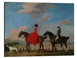 Tableau en aluminium  John and Sophia Musters riding at Colwick Hall - George Stubbs