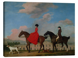 Tableau sur toile  John and Sophia Musters riding at Colwick Hall - George Stubbs