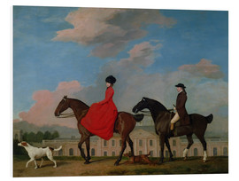 Tableau en PVC  John and Sophia Musters riding at Colwick Hall - George Stubbs