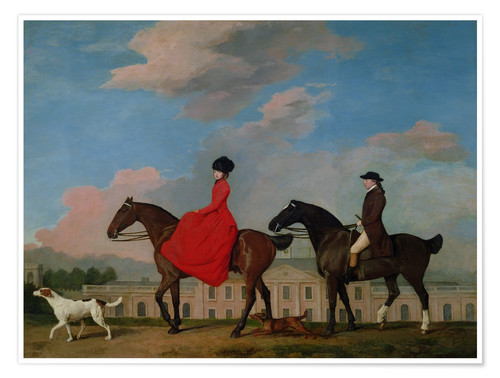 Poster John and Sophia Musters riding at Colwick Hall