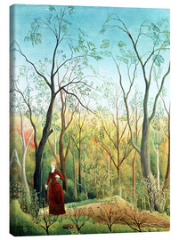 Toile  The Walk in the Forest - Henri Rousseau