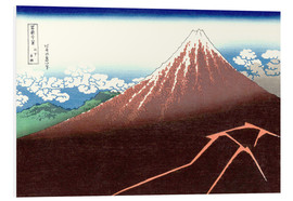 Tableau en PVC  Fuji above the Lightning - Katsushika Hokusai