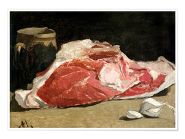 Poster  Nature Morte, le quartier de viande - Claude Monet