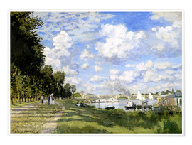 Poster  The Marina at Argenteuil - Claude Monet