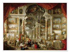 Giovanni Paolo Pannini - Gallery with Views of Modern Rome
