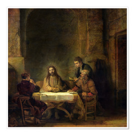 Poster The Supper at Emmaus