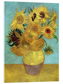 Verre acrylique  Sunflowers - Vincent van Gogh