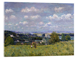 Tableau en verre acrylique  The Valley of the Seine at Saint-Cloud - Alfred Sisley