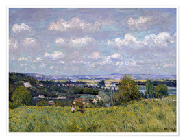 Poster  The Valley of the Seine at Saint-Cloud - Alfred Sisley