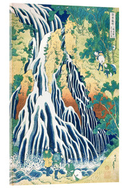 Verre acrylique  Kirifuri Fall on Kurokami Mountain - Katsushika Hokusai