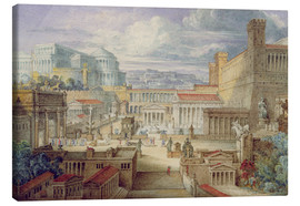 Toile  A Scene in Ancient Rome - Joseph Michael Gandy