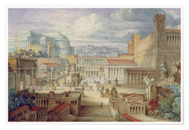 Poster  A Scene in Ancient Rome - Joseph Michael Gandy