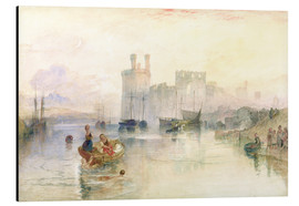 Tableau en aluminium  View of Carnarvon Castle - Joseph Mallord William Turner
