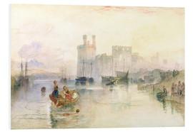 Tableau en PVC  View of Carnarvon Castle - Joseph Mallord William Turner