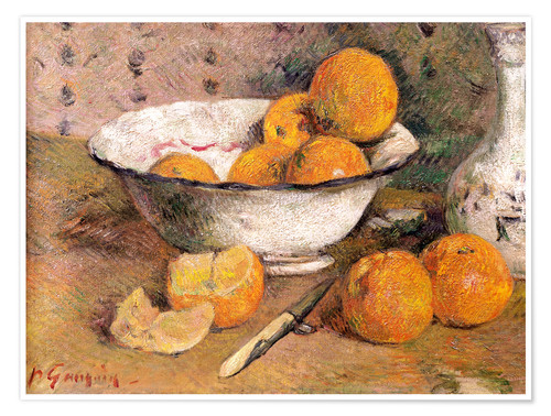 Poster Nature morte aux oranges
