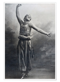 Poster  Vaslav Nijinsky in the role of the Black Slave from 'Scheherazade' - French Photographer