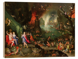 Tableau en bois  Orpheus with a Harp Playing to Pluto and Persephone in the Underworld - Jan Brueghel d.Ä.
