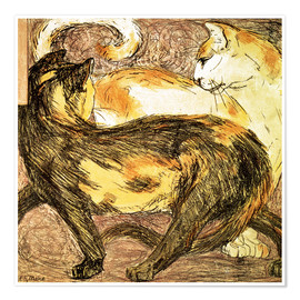 Poster  Two cats - Franz Marc