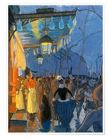 Poster  Street Scene - Louis Anquetin