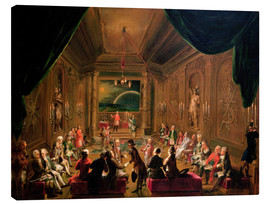 Toile  Initiation ceremony in a Viennese Masonic Lodge - Ignaz Unterberger