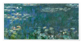 Claude Monet - Water Lilies, Green Reflections 1