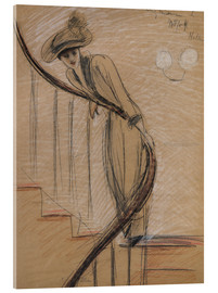 Verre acrylique  The Staircase - Paul Cesar Francois Helleu