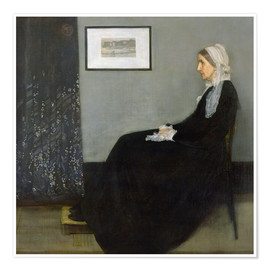 Poster Arrangement in Grey and Black: The Artist's Mother