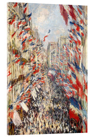Verre acrylique  Rue Montorgueil, celebrations June 30 - Claude Monet