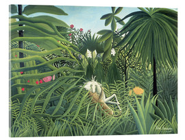 Verre acrylique  Jaguar Attacking a Horse - Henri Rousseau